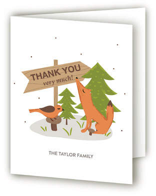 In the Woods Baby Shower Thank You Cards