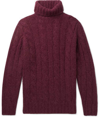 Brunello Cucinelli Cable-Knit Alpaca-Blend Rollneck Sweater