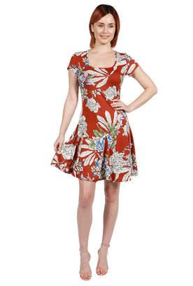 24/7 Comfort Apparel 24Seven Comfort Apparel Lani Red Short Sleeve Dress