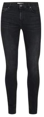 Topman Mens Washed Black Super Spray On Skinny Jeans