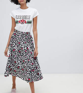 Lily & Lionel exclusive rose leopard pleated skirt