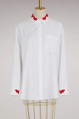 Simone Rocha Beaded Collar Shirt