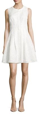 Laser Cut Flared Dress $358 thestylecure.com