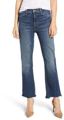Mother The Hustler High Waist Chewed Ankle Jeans