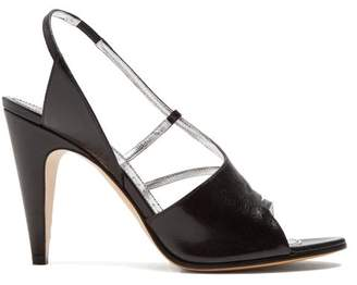 Givenchy Show Line Leather High Heel Sandals - Womens - Black