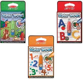 Melissa & Doug Water Wow Animals, Alphabet & Numbers Bundle