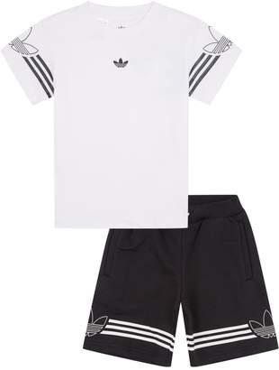adidas 3-Stripe T-Shirt and Shorts Set