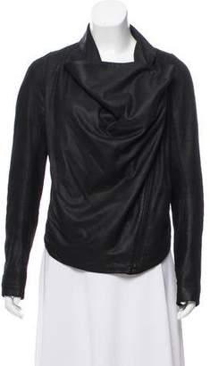 Helmut Lang Cowl Neck Zip-Up Jacket