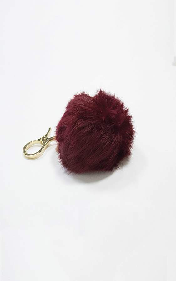 Ily Couture Red Pom Keychain