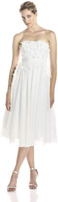 Adrianna Papell Women's Strapless Tulle Petal Party Dress