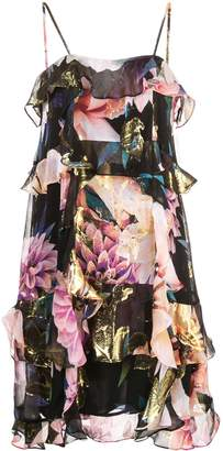 Nicole Miller floral tiered dress