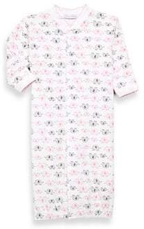 Royal Baby Baby Girl's Pima Cotton Elephant Converter Gown