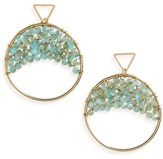 Panacea Crystal Beaded Circle Earrings