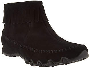 Skechers Relaxed Fit Suede Fringe Boots -Indian Summer