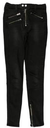 Rag & Bone Mid-Rise Zip Skinny Jeans