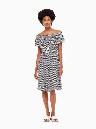 Kate Spade arrow stripe rayon dress