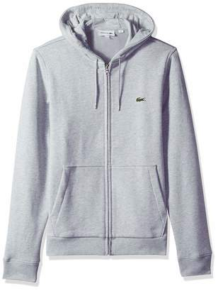 Lacoste Men's Long Sleeve French Terry Sweatshirt W/Hoodie Front Pockets