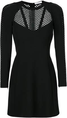 Versace mesh panels dress