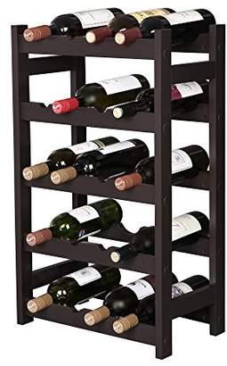 SONGMICS Wood 20 Wine Display Rack