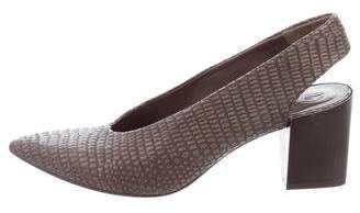 Coclico Embossed Slingback Pumps