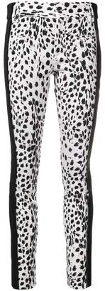 Haider Ackermann printed contrast panel trousers