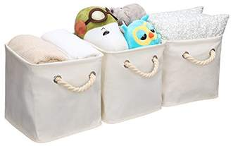 StorageWorks Storage Cube Organizer Bin With Strong Cotton Rope Handle