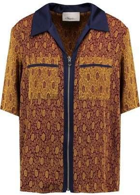 3.1 Phillip Lim Satin-Trimmed Jacquard Shirt