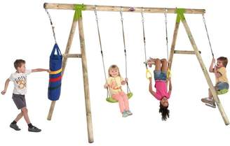 Plum Capuchin Wooden Garden Swing Set