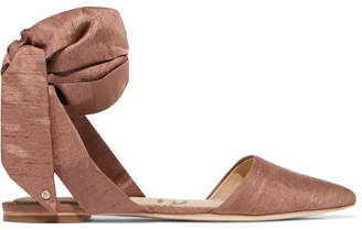 Sam Edelman Brandie Dupion Point-toe Flats - Antique rose