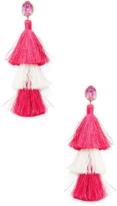 Deepa Gurnani Multi Tassel Statement Earrings