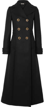 Miu Miu Double-breasted Wool-felt Coat - Black