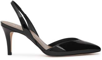 Reiss Millie Patent-Leather Slingback Shoes