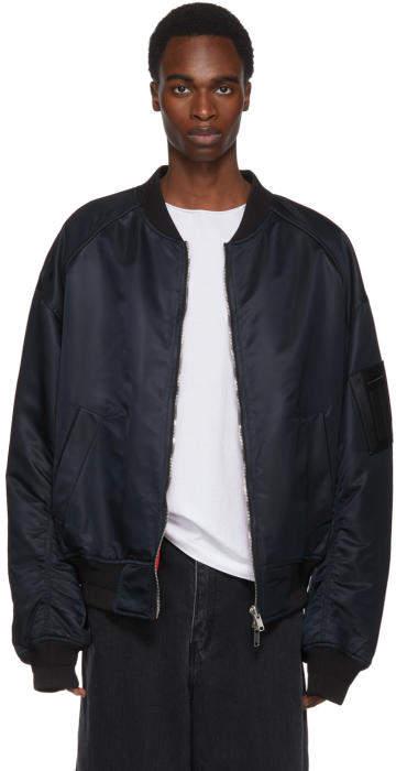 Juun.J Reversible Black and Red Be Curious Not Judgemental Bomber Jacket