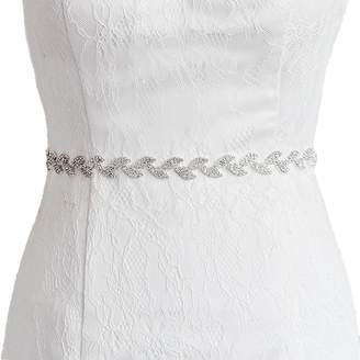 Azaleas Women's Crystal Bridal Bridesmaid Dresses Sash Belts