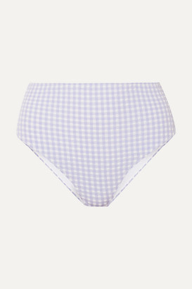c1729eb5e1 Ganni Gingham Seersucker Bikini Briefs - Light blue