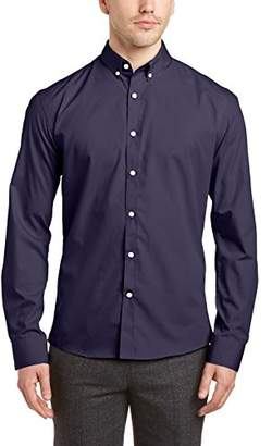 Homme Mens One Mix Phil NOOS ID Regular Fit Button Down Long Sleeve Casual Shirt Selected Buy Cheap Best 6szeiHD6w
