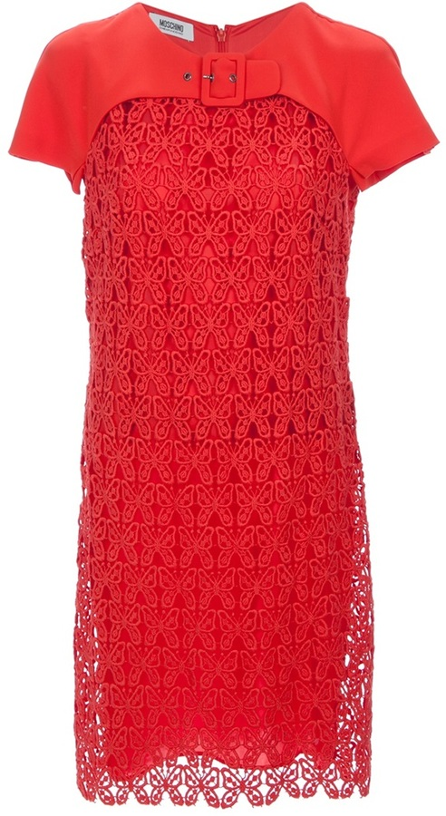 Moschino Cheap & Chic butterfly lace dress
