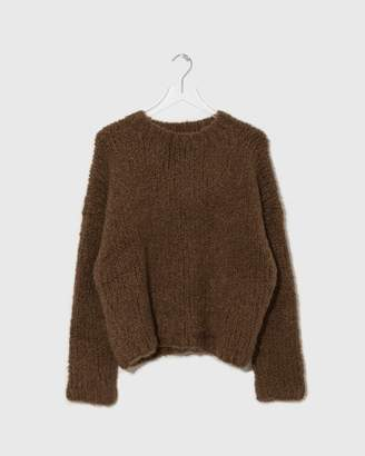 LAUREN MANOOGIAN Tobacco Handknit Boucle Box Pullover