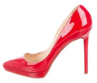 Christian Louboutin Patent Leather Pointed-Toe Pumps