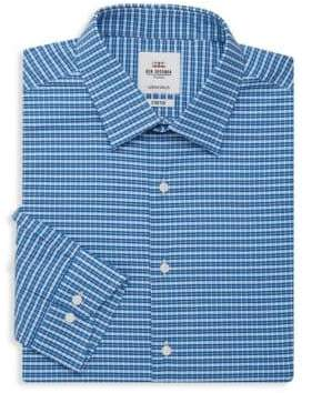 Ben Sherman Stretch Slim-Fit Checkered Dress Shirt