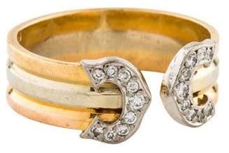 Cartier C De Diamond Logo Ring