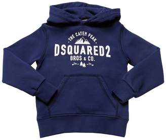 DSQUARED2 Peak Printed Cotton Sweatshirt Hoodie