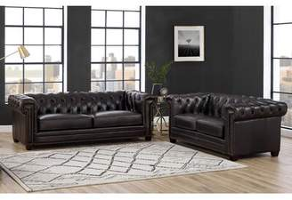 Alcott Hill Batchelor 2 Piece Leather Living Room Set Alcott Hill