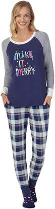 Cuddl Duds Women's Dreamer 3-piece Graphic Top & Joggers Pajama Set