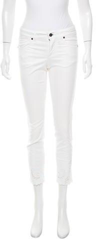 Stella McCartneyStella McCartney Eyelet-Accented Skinny Jeans