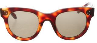 CelineCéline Tortoiseshell Round Sunglasses