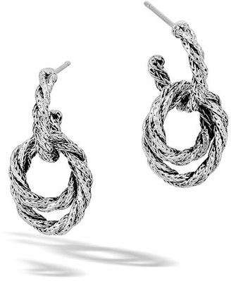 Women's John Hardy 'Classic Chain' Double Twisted Hoop Earrings $295 thestylecure.com