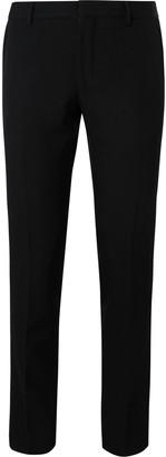 Dries Van Noten Black Slim-Fit Tapered Wool Trousers