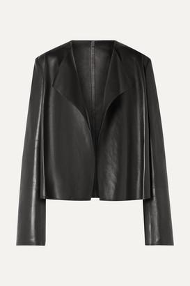 The Row Lino Leather Jacket - Black