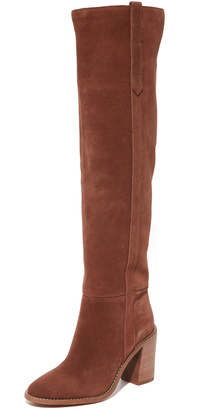 Madewell Jimi Over the Knee Boots $298 thestylecure.com